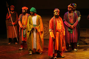 "A scene from Ajoka Theatre's performance of ""Dara"""