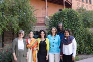 Faculty involved in the ASU-Kinnaird university partnership. Photo credit: Andy DeLisle
