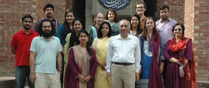 The BULPIP Students with   Dr. Anjum Altaf, Dean of the Lahore University Management Sciences School of Humanities, Social Sciences and Law (Photo Credit: LUMS)